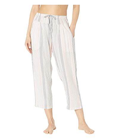 Donna Karan 24 Capri Pants Plain Weave (Cream Print) Women