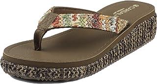 MERFUNTO Wedge Sandals for Women Flip Flops Platform Slide Heeled Sandals