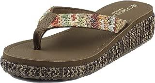 Wedge Sandals for Women Flip Flops Platform Slide Heeled Sandals