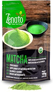 Zenato Matcha Green Tea Powder Culinary 100% USDA Organic , for Bakery, Latte, Smoothie, Ice Cream, 100g 3....