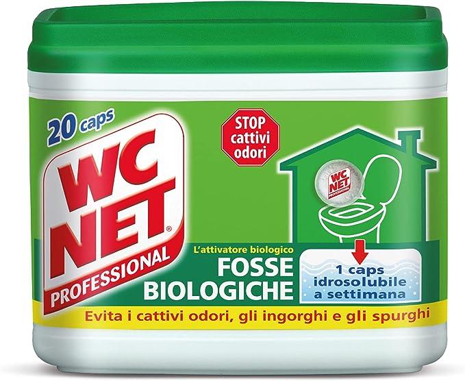 815 opinioni per Wc Net Professional- Fosse Biologiche, Capsule Idrosolubili per WC, Scioglie gli