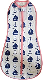 Woombie Nautical for Girl, White/Navy/Pink, 14-19 lbs