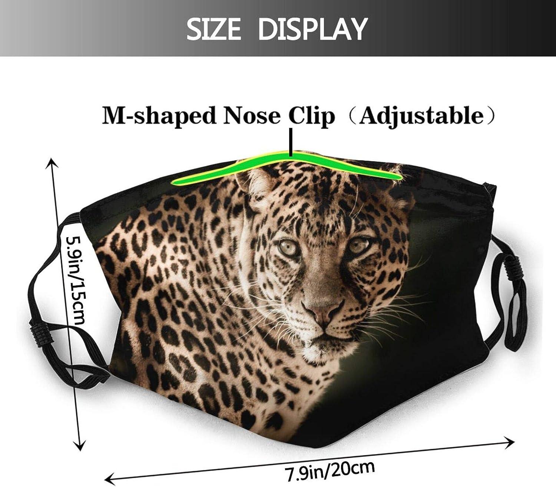 Leopard2 Washable Windproof 2 Filter Face Shield Mask Reusable Dust Adjustable Unisex Sports Mask Balaclavas Face Mask Black