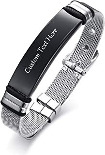 Vnox Personalizzato Incisione Personalizzata Targhetta Identificativa Acciaio Inossidabile Targhetta Identificativa Cintur...