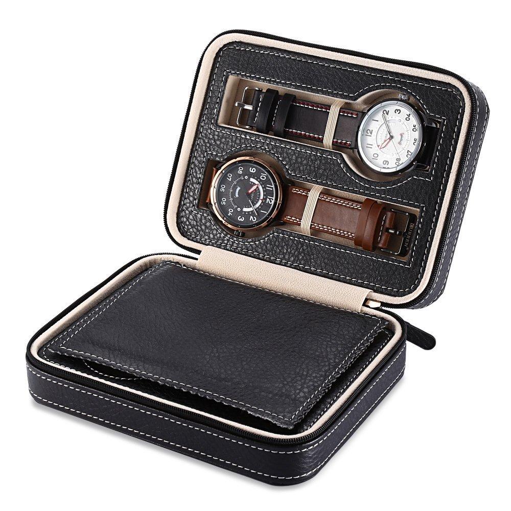 EleLight Portable Leather Zippered Organizer
