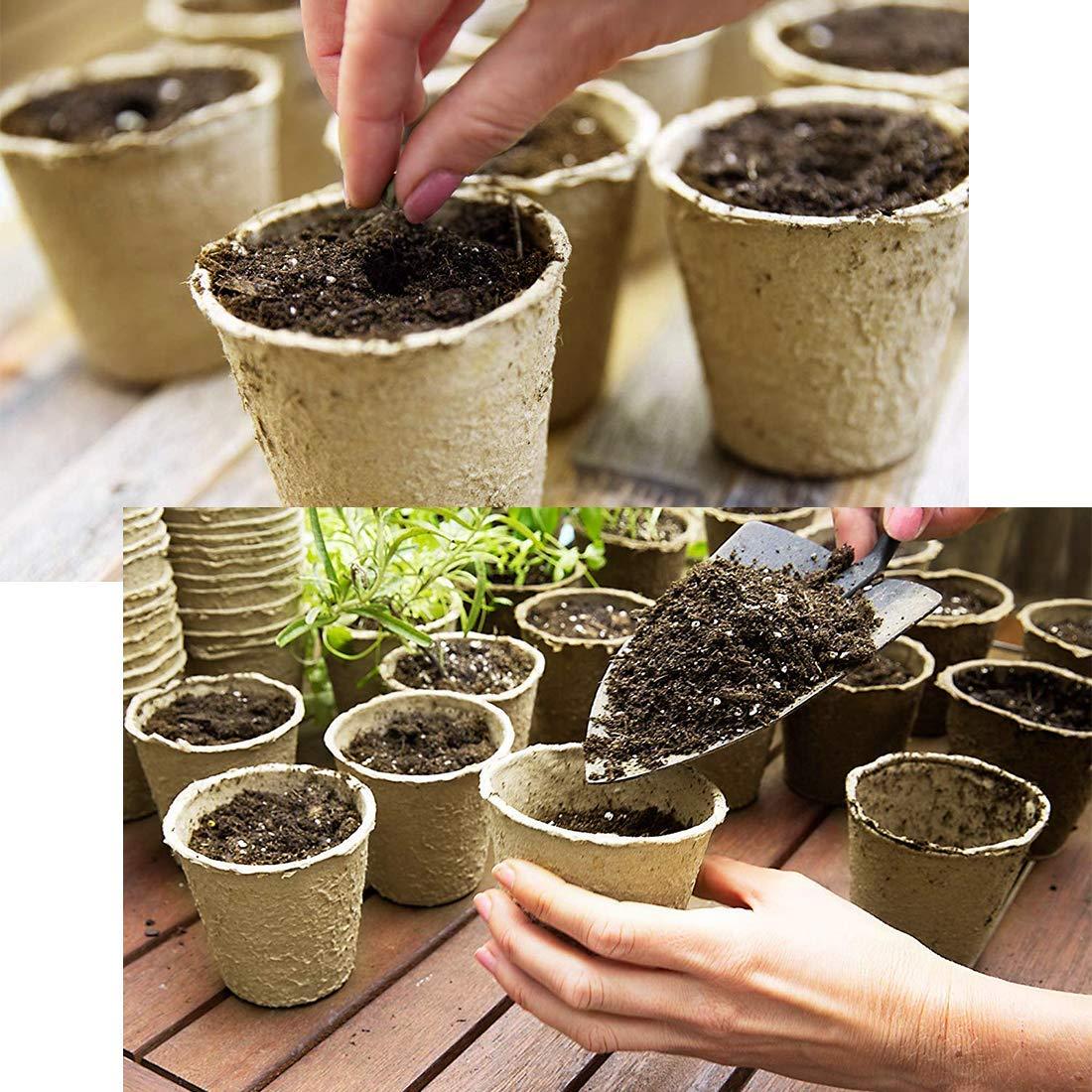 MLJTECH - Macetas biodegradables de Fibra para Plantar Semillas ...