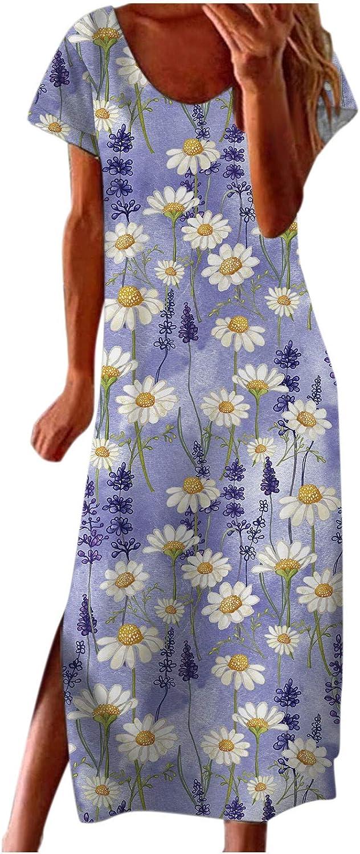 GCETTIC Women's Dresses Tie Dye Letter Printed Long Maxi Dress Sleeveless Summer Beach Party Tank Dress