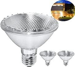 Par30 Short Neck, 2PCS 75W 120V Halogen Flood Light Bulbs, Premium Quality for Long Lasting Life, E26 Base, 3000K Warm White, Great for Accent Lighting, Tracking Light … (2 Pack)