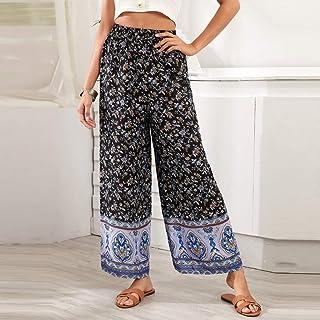 Summer Ladies Shorts Loose Casual Woman Wide Leg Plus Size Print Hot Floral Tribal Print Wide Leg