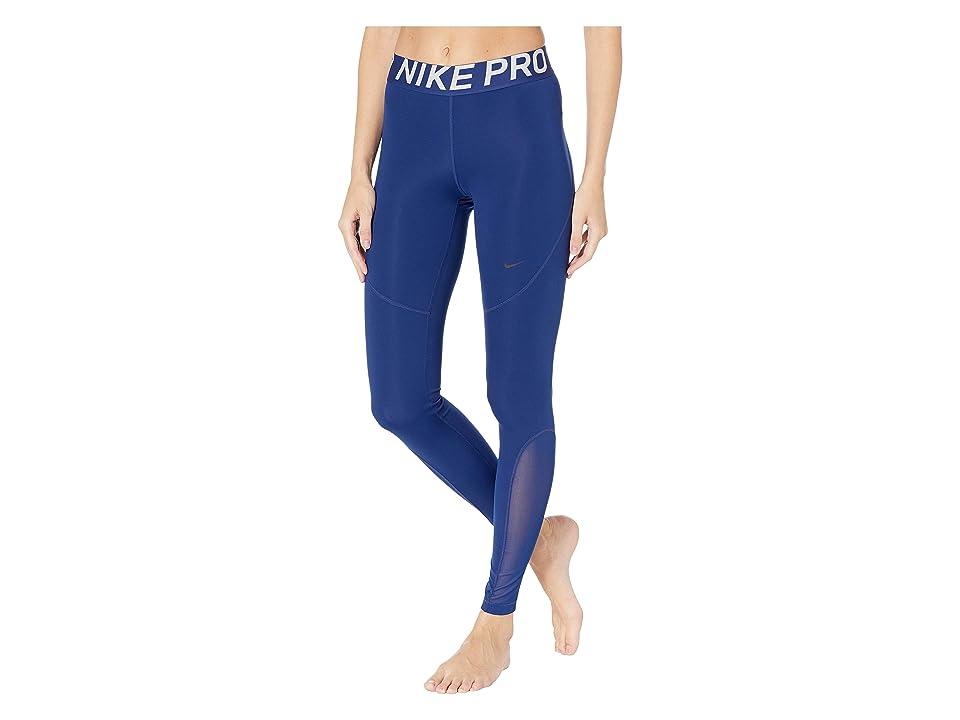 Nike Pro Tights (Blue Void/Black) Women