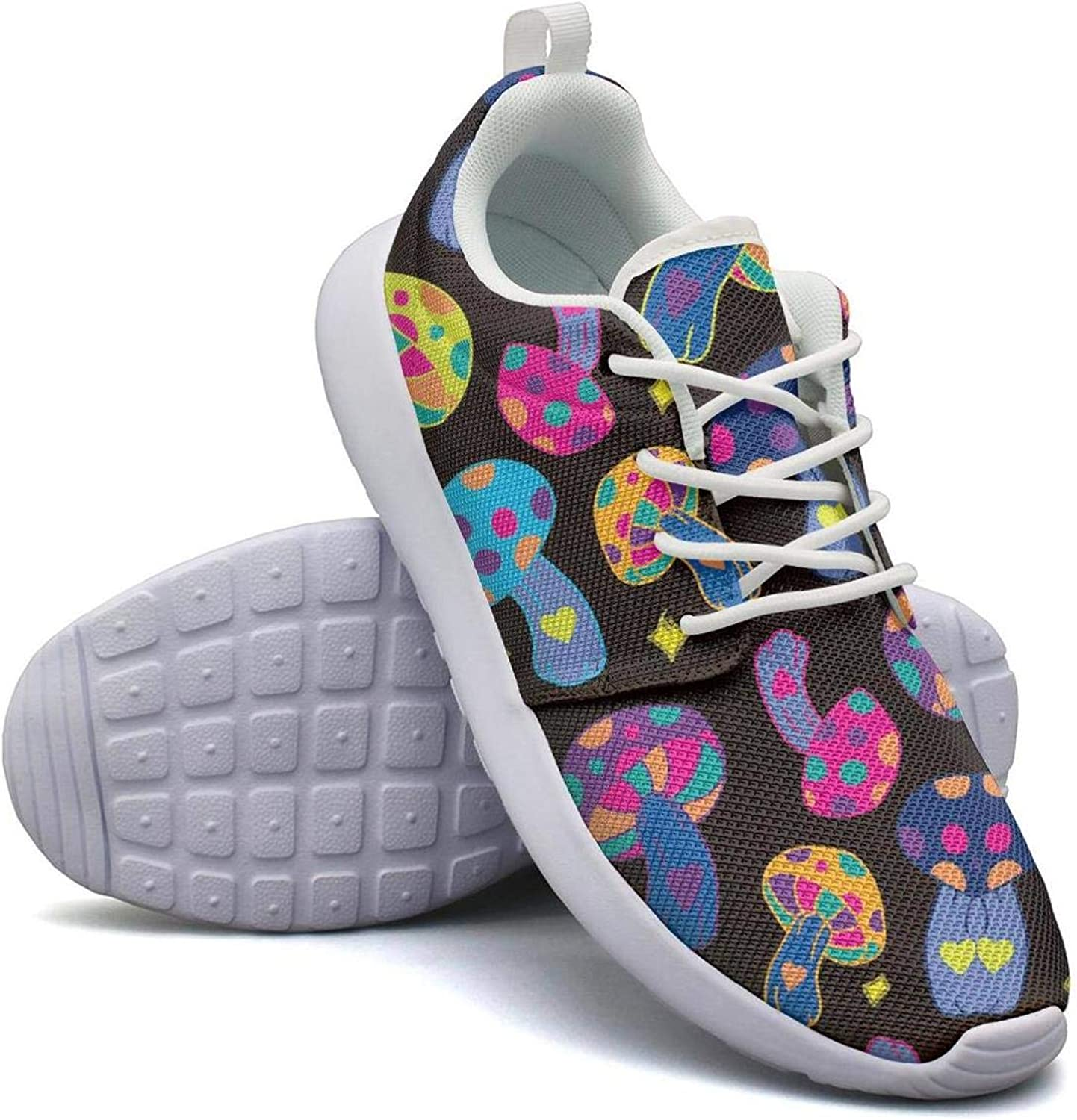 CHALi99 Breathable Lady Lightweight Mesh shoes Rainbow Mushroom Sneakers Trail Running Rubber Sole