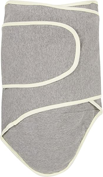 Miracle Blanket Swaddle Unisex Baby Grey With Yellow Trim