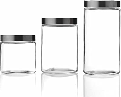 Texas Elements Cristal 3PC Set Glass Canister