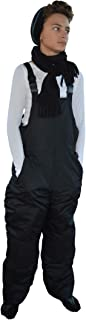 Snowsuits for Kids Unisex Youth Teen Insulated Bib Snow Pants Black