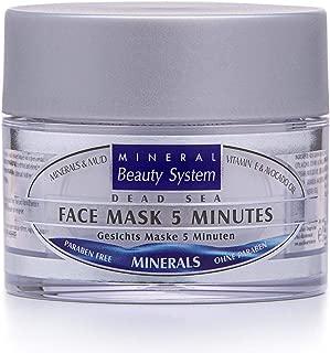 Totes Meer Schlamm Gesichts Maske 5 Minuten 50ml By Mineral Beauty System - Natürliche Gesichtsmaske, Befeuchtet Und Heilt, Spendet Feuchtigkeit Und Schützt Die Haut