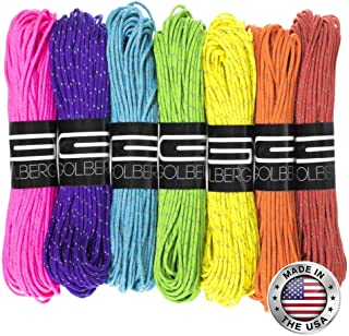 GOLBERG G 1.8mm Fluorescent Reflective 95lb Paracord 1.8mm Cord in 20 Meters – Perfect for Guyline, Tent Rope, Camping, Hiking
