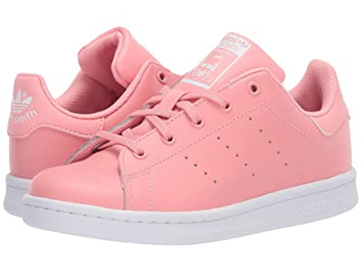 adidas Originals Kids Stan Smith (Little Kid) (Glory Pink/White) Girls Shoes