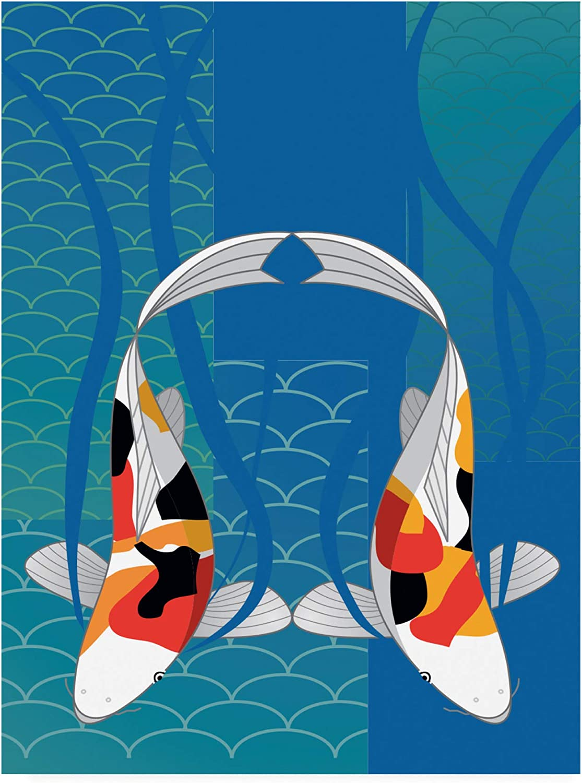 Trademark Fine Art Koi Pond Sansone Marie List price Modern by 24x32 OFFicial mail order