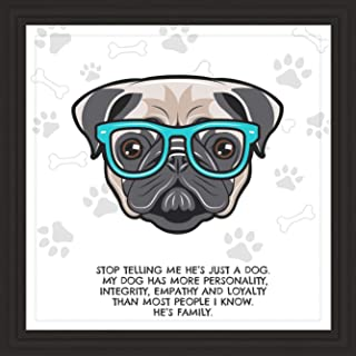 Pug Lovers Gifts   7x7 Tile Artwork   Decorative Gift for Pug Lover   Fun Dog Owners Present   Pugs Themed Art Print Ideal for Room Decor   Perfect for Men, Women, and Kids