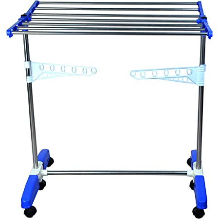 Mega Stainless Steel Single Tier Make in India Portable Cloth Drying Stand