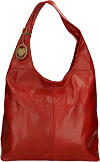 Chicca Borse Bag Borsa a Spalla in Pelle Made in Italy 41x55x12 cm