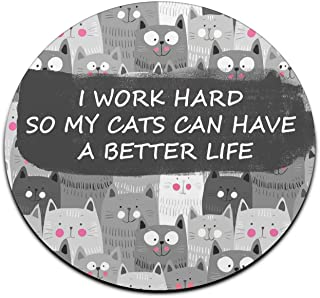 Cats Funny Quote Mouse Pad Cute Mousepad Men Women Desk Accessorie Office Supplies Gift for Coworker Boss Cat Lovers A399