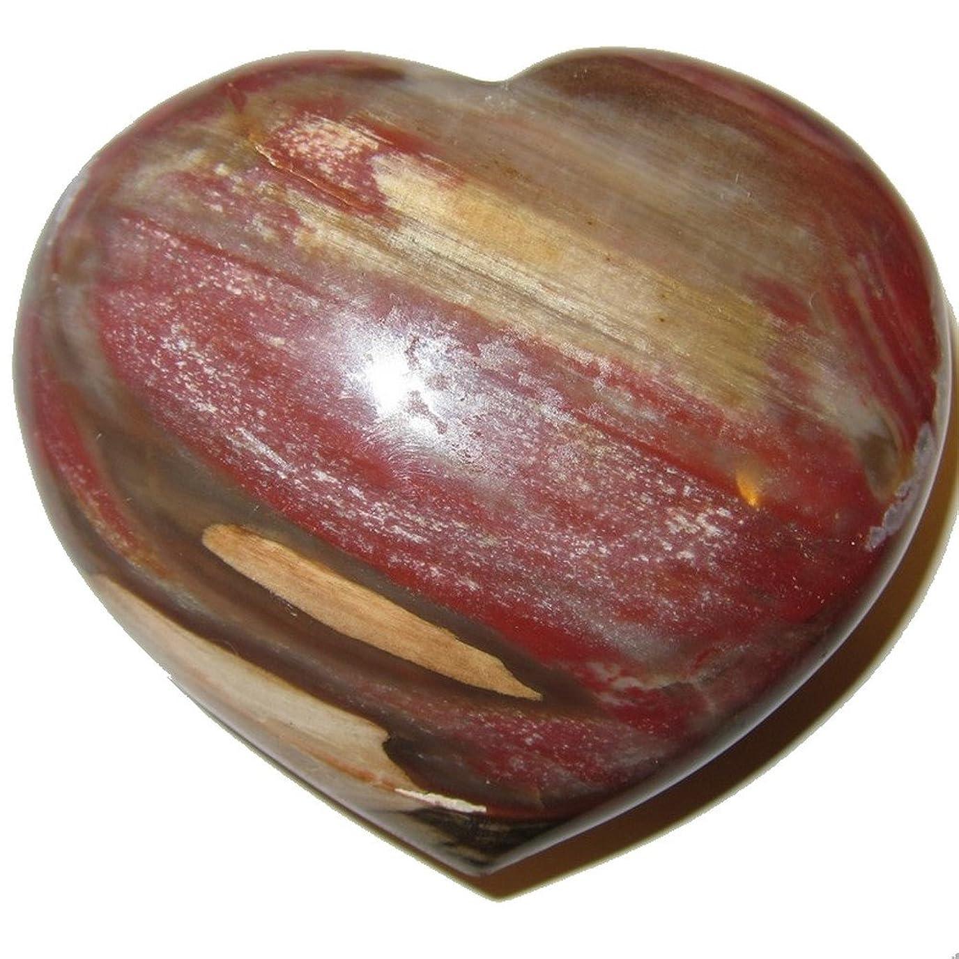 拍車フルートセールスマンサテンクリスタルPetrified Wood Heart 3.3?