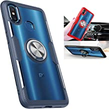 Xiaomi Mi 8 Transparent Case,360° Rotating Ring Kickstand Protective Case,TPU+PC Shock Absorption Double Protection Cover ...