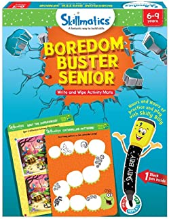 Skillmatics Educational Game: Boredom Buster Senior (6-9 Years) | Erasable and Reusable Activity Mats | Travel Friendly To...