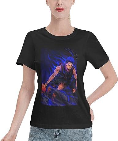 EricDCarl Kuroko's Basketball Daiki Aomine Short Sleeve T-Shirts Female Round Neck Tops Summer Tee Breathability Shirts