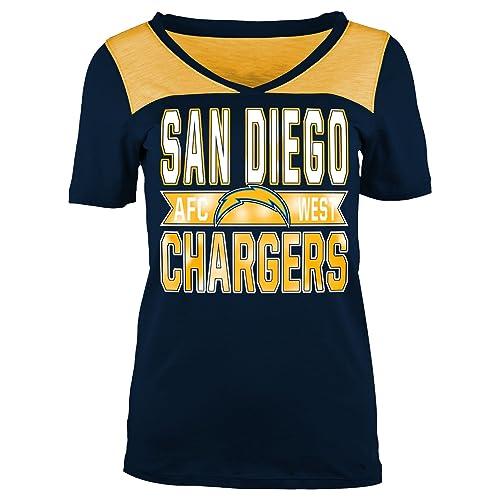 San Diego Chargers Women s Shirts  Amazon.com 8f2dfb6f6