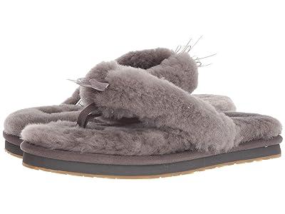 UGG Fluff Flip Flop III (Grey) Women