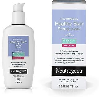 گلیسیرین و چای سبز تقویت کننده پوست نوتروژن با کرم مرطوب کننده و کرم صورت با SPF 15 ضد آفتاب ضدآفتاب ، کرم ضد چین و چروک ، مرطوب کننده صورت برای پوست خشک و کرم تقویت کننده گردن ، 2.5 fl. اوز