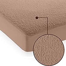 Cloth Fusion Saviour 2nd Gen Waterproof King Size Terry Mattress Protector (78x72-Inches, Beige)