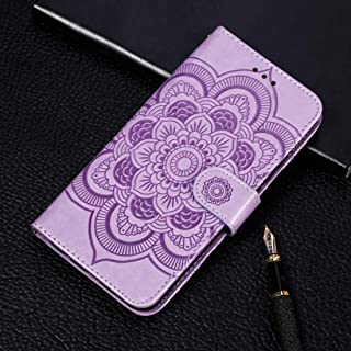 Good Mandala Embossing Pattern Horizontal Flip Leather Case for Samsung Galaxy A70, with Holder & Card Slots & Wallet & Photo Frame & Lanyard(Rose Gold) Starxx (Color : Purple)
