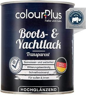colourPlus 1K Bootslack & Yachtlack 750ml, transparent Bootslack Holz - Schiffslack - Bootslacke - Boot Lack - Klarlack Holz - Made in Germany