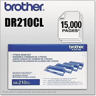 Brother HL 3040CN, 3070CW, MFC 9010CN, 9120CN, 9320CW Drum Unit Set (15,000 Yield), Part Number DR210CL