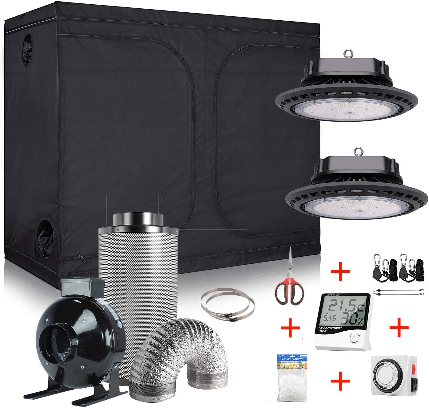 Hydro Plus Grow Year-end gift Tent Complete Kit UFO 300W Sunlike LED Ligh Max 64% OFF