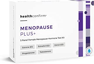HealthConfirm - Menopause Plus - at-Home Test Kit - 5 Panel Female Hormone Saliva Collection Kit