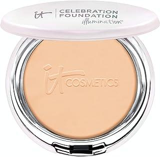 IT Cosmetics Celebration Foundation Illumination, Medium (W) - Full-Coverage, Anti-Aging Powder Foundation - Blurs Pores, Wrinkles & Imperfections - 0.3 oz Compact