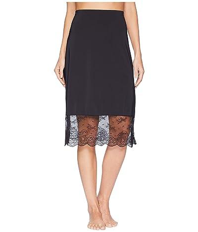 Natori Infinity Lace Trim Half Slip (Black) Women