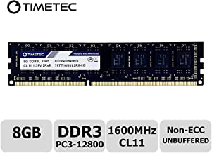 Timetec Hynix IC 8 GB DDR3L 1600MHz PC3L-12800 Non ECC Unbuffered 1.35V / 1.5V CL11 2Rx8 Dual Rank 240 Pin UDIMM Desktop PC ارتقاء ماژول رم کامپیوتر (8 GB)