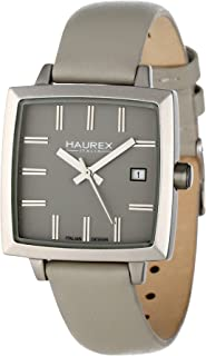 Haurex Italy Women's FK380DG1 Compact W Square Grey Leather Watch
