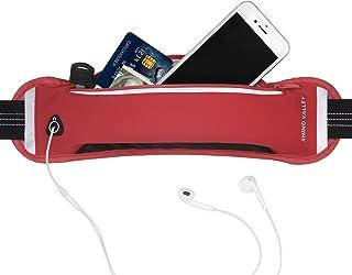 Rhino Valley 跑步腰带腰包,运动健身锻炼腰带,适合男士女士徒步旅行,防水反光包兼容 iPhone X/Xs/Xs Max/Xr/8/7 Plus,Galaxy Note 8/S9/S9 Plus