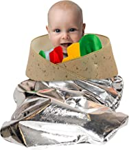 A Unique Easy Pull Over Taco Burrito Costume For Babies or Small Toddlers Designed To Keep Your Little One Comfortable