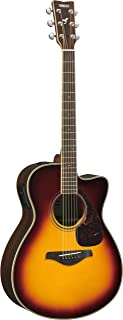 Yamaha FSX830C Small Body Solid Top Cutaway Acoustic-Electric Guitar, Rosewood Body, Concert, Brown Sunburst