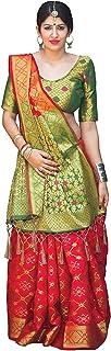 Devangi Fashion Women's Jacquard Pure Silk Saree With Unstitched Blouse Peice