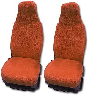 RAU Universal Sitzbezuge Schonbezüge aus 100% Frottee Farbe: Terracotta für Pilotsitze und Wohnmobile