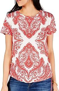 Lucky Brand womens ALLOVER PRINT TEE T-Shirt