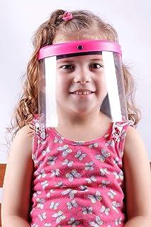 Transparent Face Shield Masks For Kids, Medium- Pink